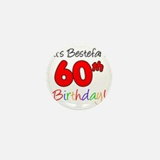 Bestefars 60th Birthday Mini Button