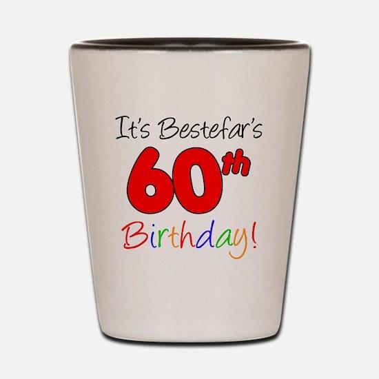 Bestefars 60th Birthday Shot Glass