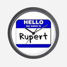 hello my name is rupert  Wall Clock