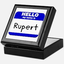 hello my name is rupert Keepsake Box