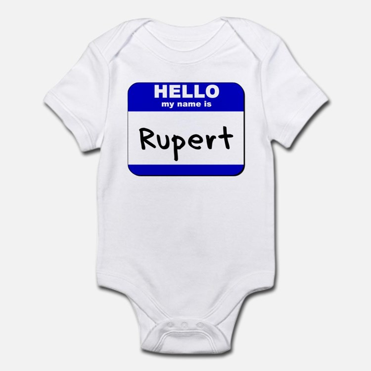hello my name is rupert  Onesie
