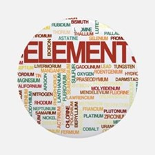 Chemical Elements Round Ornament
