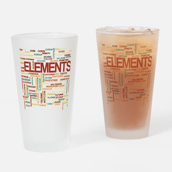 Chemical Elements Drinking Glass