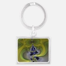 Green Goblin Abstract Fractal Landscape Keychain