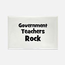Government Teachers Rock Rectangle Magnet