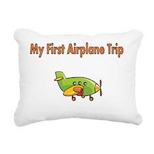 My First Airplane Trip Rectangular Canvas Pillow