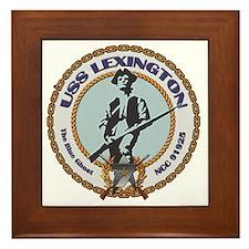 USS Lexington Framed Tile