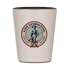 USS Lexington Shot Glass