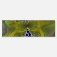 Green Goblin Abstract Fractal Bumper Bumper Sticker
