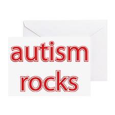 Autism rocks Greeting Card