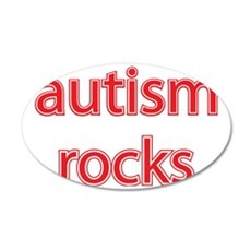 Autism rocks 35x21 Oval Wall Decal