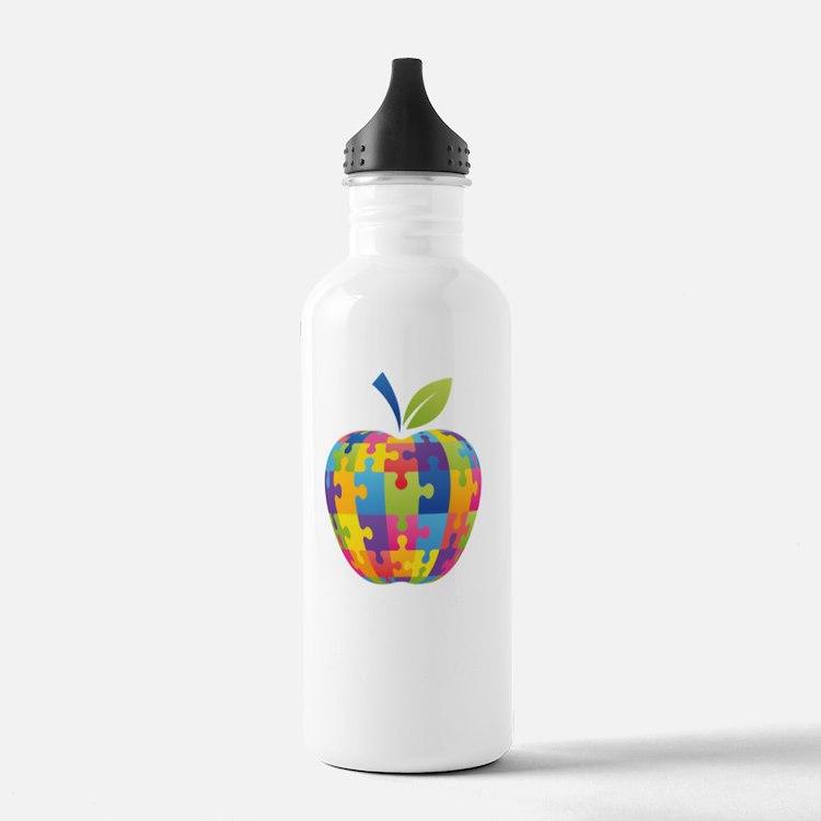 teachCompass1B Water Bottle