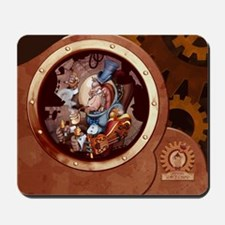 Steampunk Space Chimp Porthole Mousepad