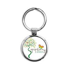 Epiphany Place Logo Tree Round Keychain
