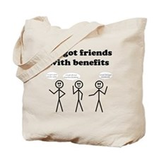 friends with benefits Tote Bag