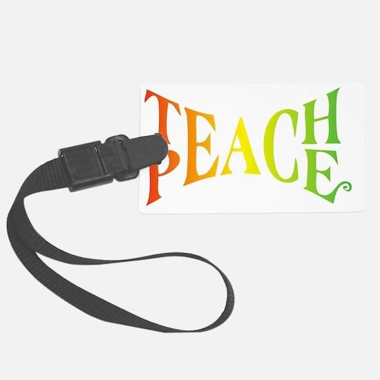 Teache Peace, Autism Awareness Luggage Tag