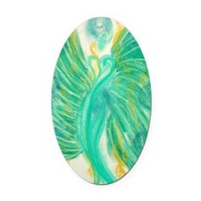 Inner Peace Angel Card Oval Car Magnet