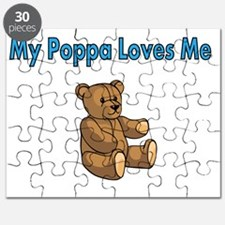 My Poppa  Loves Me with Cute Teddy Bear Puzzle