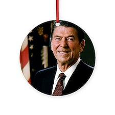 President Ronald Reagan Round Ornament