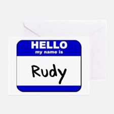 hello my name is rudy  Greeting Cards (Package of