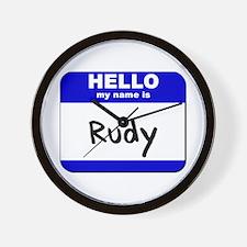 hello my name is rudy  Wall Clock