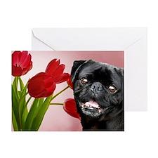 Easter pug Greeting Card