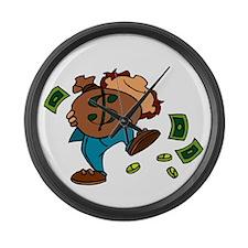 Money Large Wall Clock