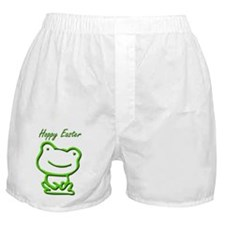 Cute Hoppy Easter Frog Boxer Shorts