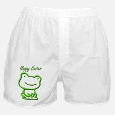 Cute Hoppy Easter Frog Boxer Shorts