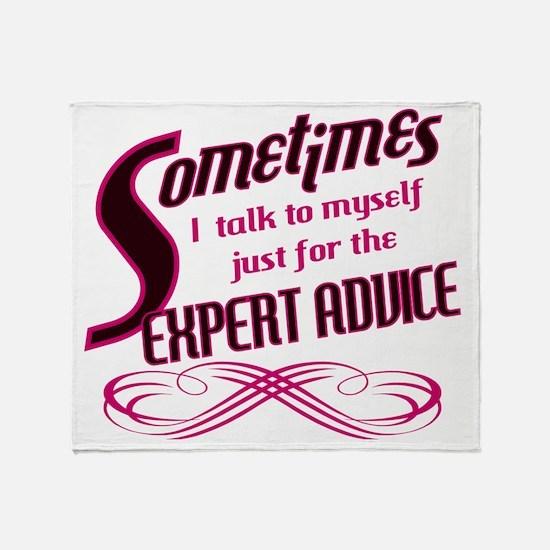 Expert Advice Throw Blanket