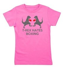 T Rex Hates Boxing Girl's Tee