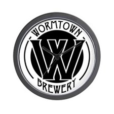 Wormtown_BW_Logo Wall Clock
