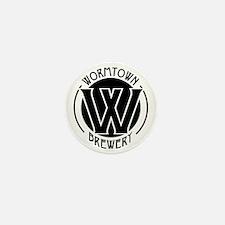 Wormtown_BW_Logo Mini Button