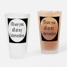 interventionbutton Drinking Glass