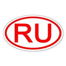 RU Oval (Red) Oval Decal