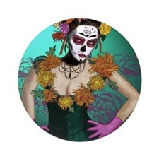 Flowers - Dia de los Muertos Round Ornament