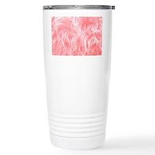 Pink Fake Fur Pattern Travel Mug
