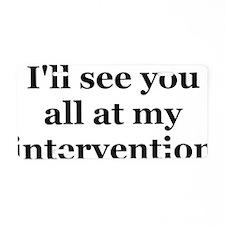 intervention Aluminum License Plate