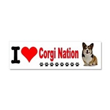 I Love Corgi Nation License Plat Car Magnet 10 x 3