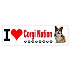I Love Corgi Nation License Plate Bumper Sticker