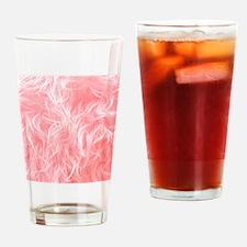 Pink Fake Fur Pattern Drinking Glass