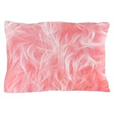 Pink Fake Fur Pattern Pillow Case