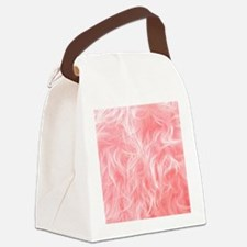 Pink Fake Fur Pattern Canvas Lunch Bag
