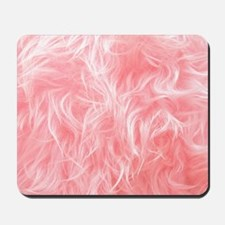 Pink Fake Fur Pattern Mousepad