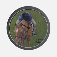 Young Rider and Pony Wall Clock