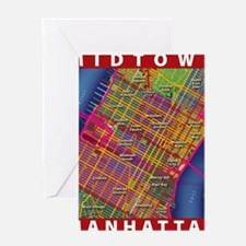 Midtown Manhattan Map Greeting Card