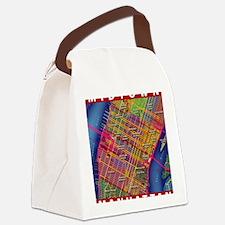 Midtown Manhattan Map Canvas Lunch Bag