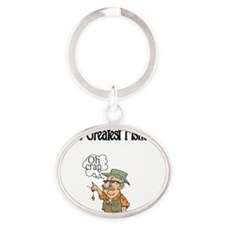 Worlds Greatest Fisherman Oval Keychain