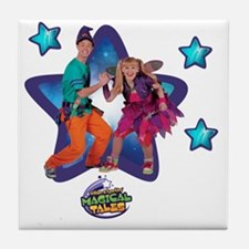 William and Sparkles Tile Coaster