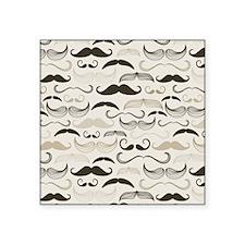 """Mustaches Square Sticker 3"""" x 3"""""""